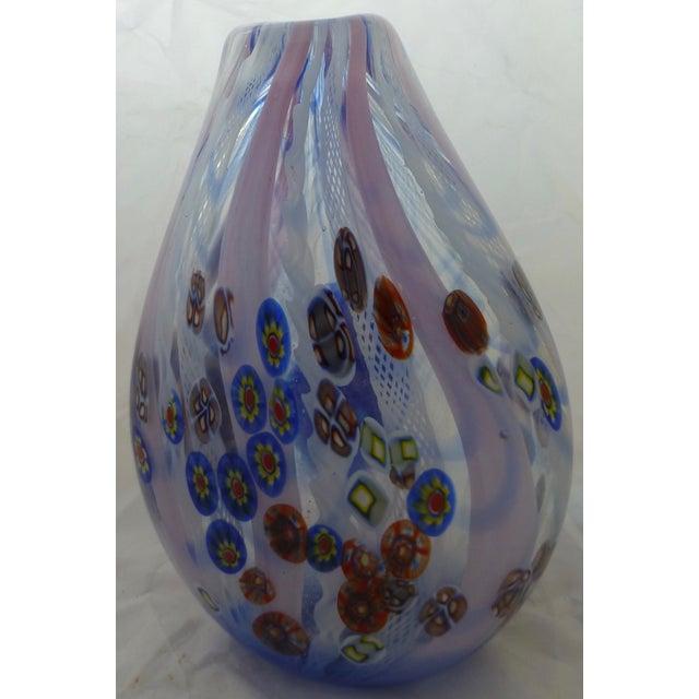 Murano Glass Vase With Milleforia Latticino Cane - Image 9 of 9