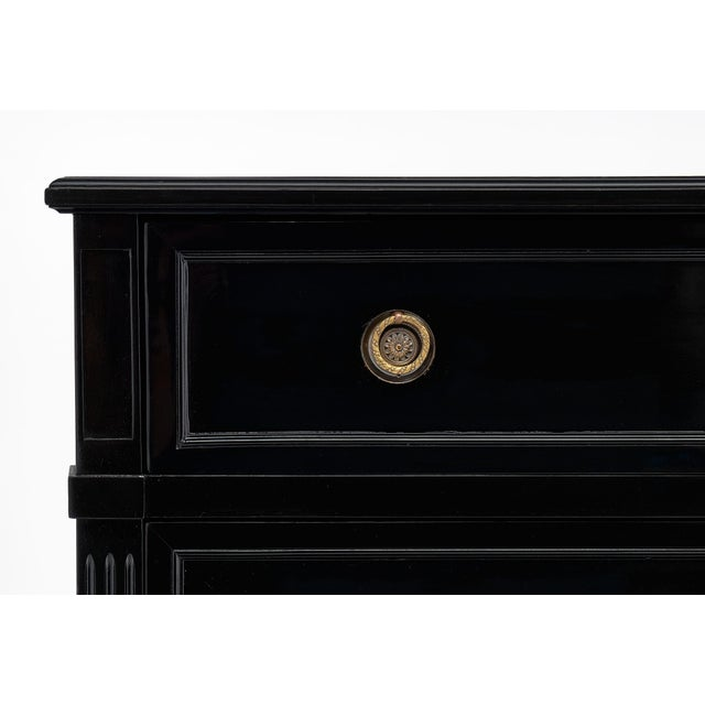 Late 19th Century Ebonized Antique French Louis XVI Chest For Sale - Image 5 of 10