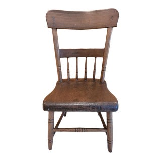 Early 19th Century Vintage Children's Wooden Chair For Sale