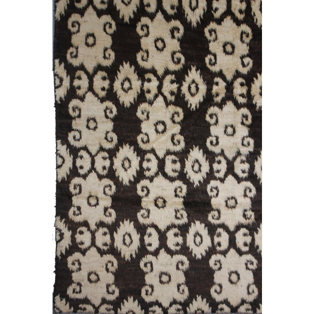 "Aara Rugs Inc. Hand Knotted Ikat Rug - 9'8"" X 7'4"" For Sale - Image 4 of 4"