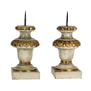 Italian carved and gilt Prickets / Candlesticks c.1820