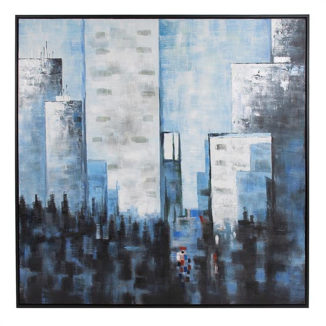 2020s Kenneth Ludwig Chicago View From the Window Painting For Sale - Image 5 of 5