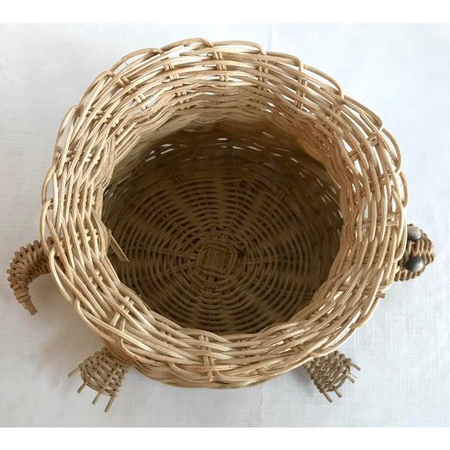 Vintage Wicker Turtle Planter Basket For Sale In Dallas - Image 6 of 8