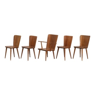 1940s Göran Malmvall for Karl Andersson & Söner Chairs- Set of 5 For Sale