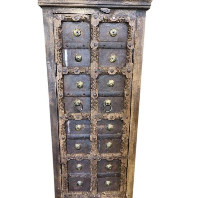 Antique Rustic Primitive Doors Storage Cabinet For Sale - Image 4 of 7