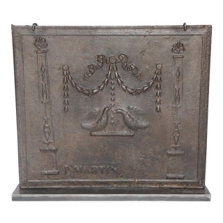 Antique French Fireback For Sale