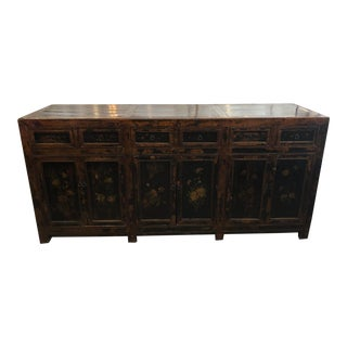 Vintage Asian Rustic Sideboard For Sale
