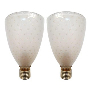 Italian Control Bubble Coppa Sconces - a Pair For Sale