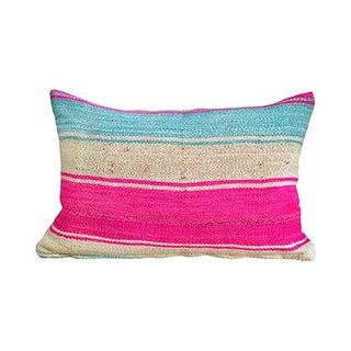 Kim Salmela Boho Chic Striped Peruvian Kilim Lumbar Pillow Preview