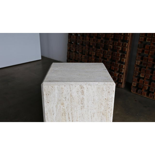 Late 20th Century Travertine Cube Side Table, Circa 1980 For Sale - Image 5 of 9