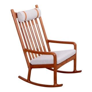 Jacob Kjær Rocking Chair in Teak, Denmark, 1960s
