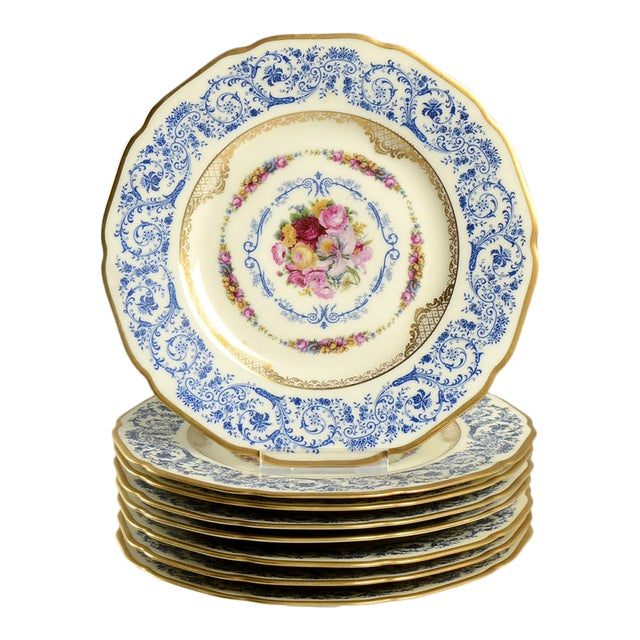Black Knight Margarite Salad Plate - Set of 8 For Sale