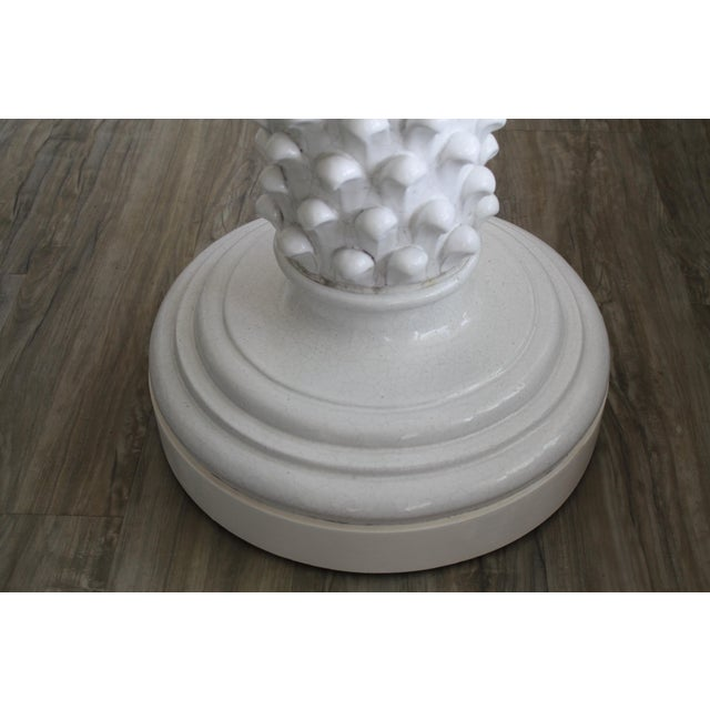 Pair of Italian Ceramic Pedestals Attributed to Fantoni For Sale In Palm Springs - Image 6 of 7