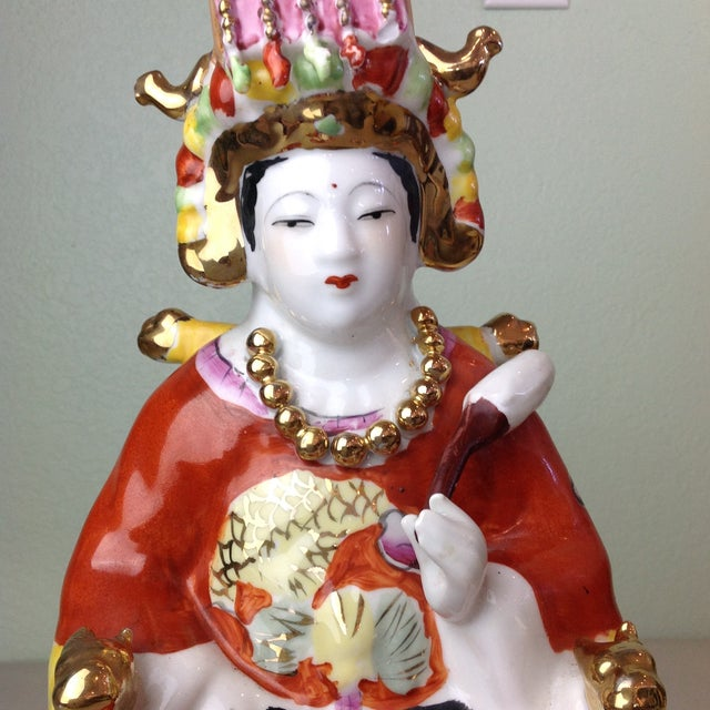 Asian Vintage Ceramic Chinese Empress Figurine For Sale - Image 3 of 11