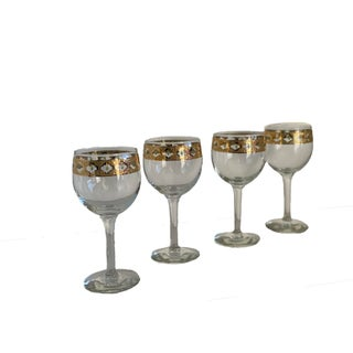 Mid 20th Century Culver Valencia Decanter and Wine Glasses Set Mid Century - Set of 6 Preview