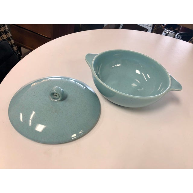 Contemporary 20th Century Contemporary Robin Egg Serving Dish For Sale - Image 3 of 7