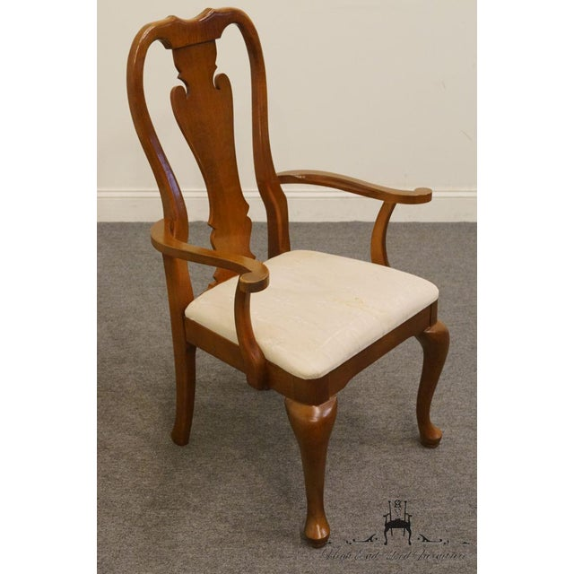 Thomasville Thomasville Furniture Winston Court Collection Queen Anne Dining Arm Chair For Sale - Image 4 of 9