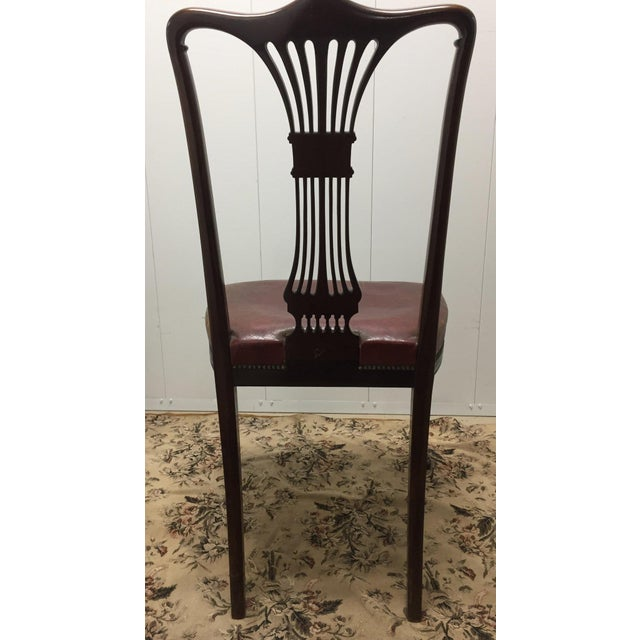 Traditional Vintage Mahogany Side Chair For Sale - Image 3 of 6