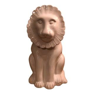 Vintage White Italian Lion Cookie Jar For Sale