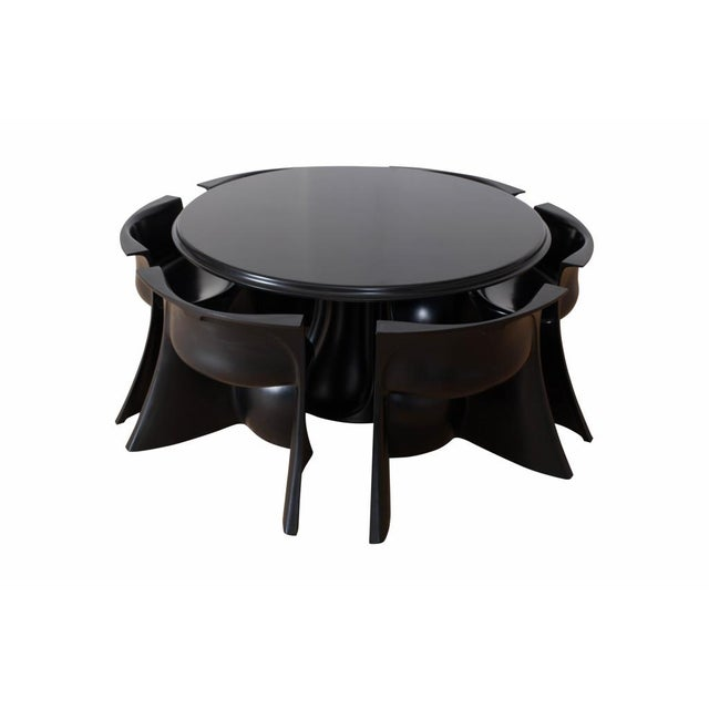 Round Dining Room Set by Pierluigi Spadolini, Italy, 1971 For Sale - Image 9 of 9