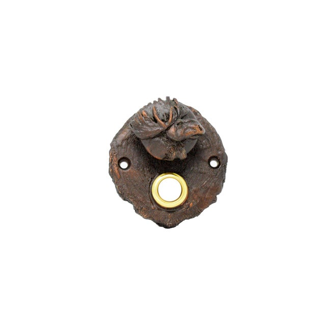 What a presence our Moose Log End doorbell has. Isn't he handsome? 5 TO 6 WEEK LEAD TIME IF NOT IN STOCK Plus Shipping --...