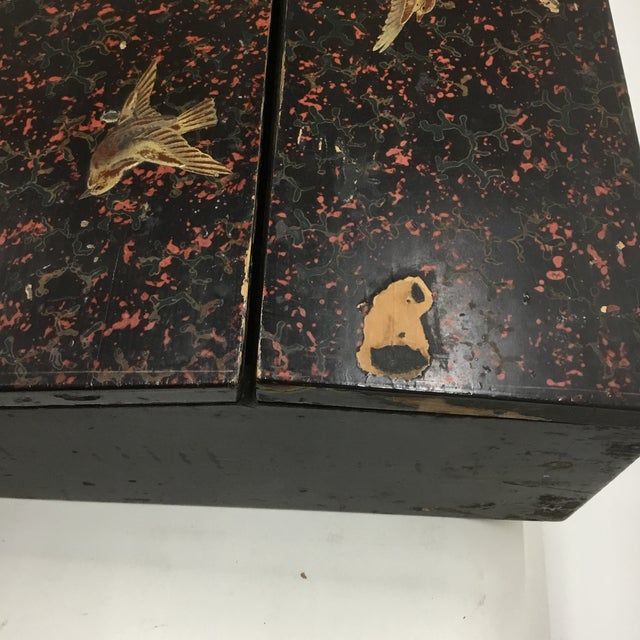 Metal 19th Century Antique Japanese Lacquer Box / Lap Desk For Sale - Image 7 of 13