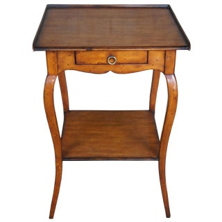 Theodore Alexander Chateau Du Vallois French Country Walnut Side Table For Sale