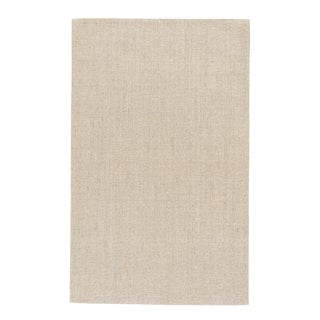 Jaipur Living Daytona Natural Solid Beige Area Rug - 9′ × 12′ For Sale