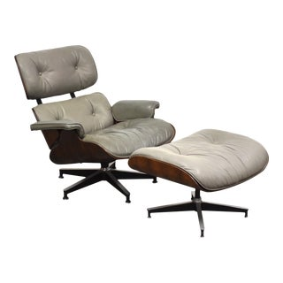 Eames Rosewood 670 Lounge Chair and Ottoman For Sale