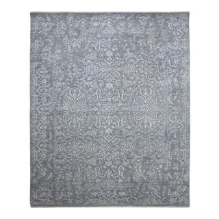 Talia, Transitional Transitional Hand-Knotted Area Rug, Seal, 5 X 8 For Sale