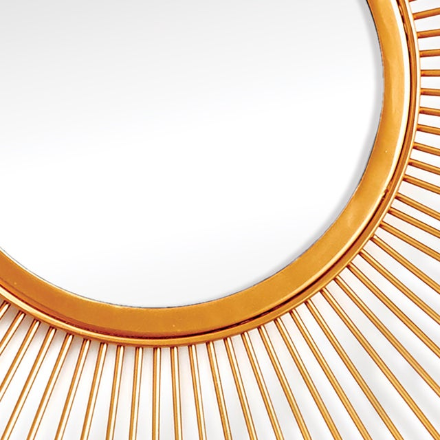 Modern Kenneth Ludwig Celeste Gold Leaf Mirror For Sale - Image 3 of 4