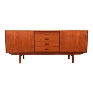 Mid-Century Danish Modern Teak Credenza / Sideboard For Sale