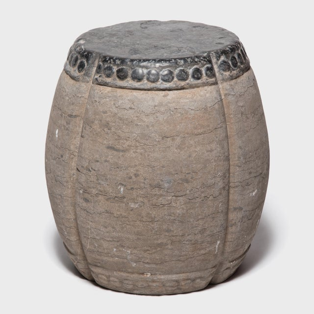 Asian Chinese Clover Form Stone Drum For Sale - Image 3 of 8
