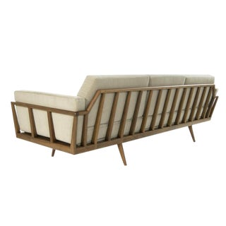 Mel Smilow Rail Back Sofa for Smilow-Thielle, Circa 1950s For Sale