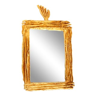 Gild Bronze Cast Mirror or Picture Frame by Fondica For Sale