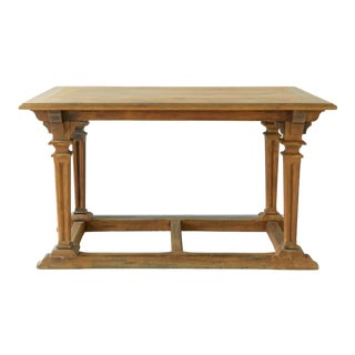 Late 19th Century French Oak Monastery Table For Sale