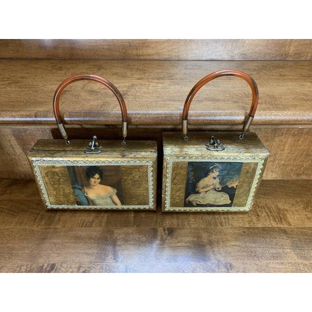 Elegant Victorian Wall Hanging Boxes or could be used as decorative storage boxes.