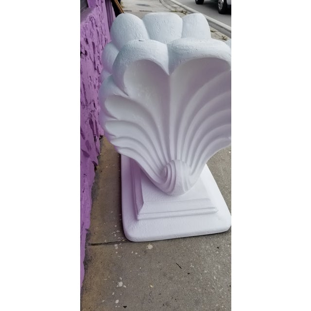 Paint Grosfeld House Style Hollywood Regency Shell Plaster Console / Dining Table Base For Sale - Image 7 of 13