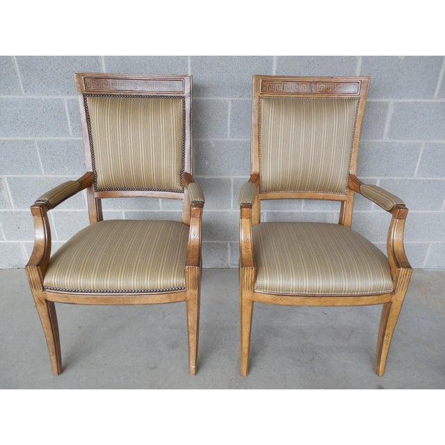 Ferguson Copeland Neoclassical Regency Style Chairs - Set of 8 - Image 4 of 11