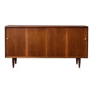 Danish Mid Century Walnut Sideboard For Sale