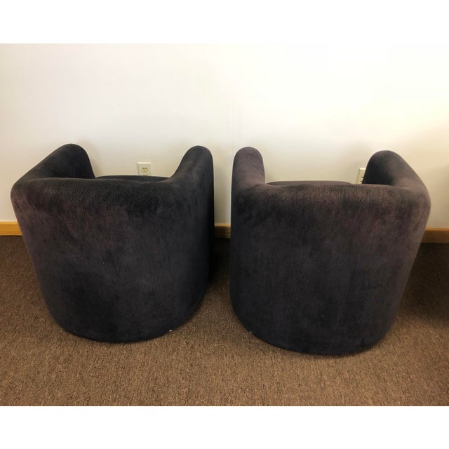 Preview 1990s Vladimir Kagan for Preview Biomorphic Freeform Armchairs - a Pair For Sale - Image 4 of 8