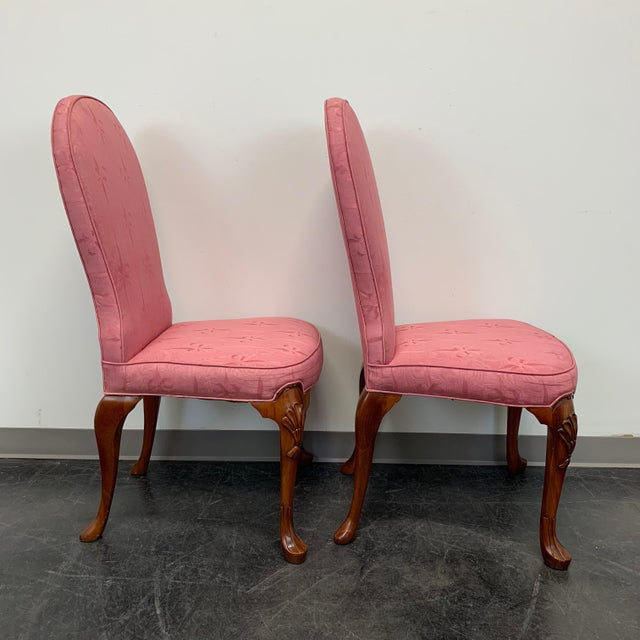 John Widdicomb Queen Anne Style Dining Parsons Side Chairs - Set of 4 For Sale In Charlotte - Image 6 of 12