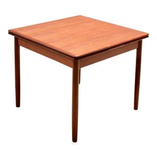 Danish Modern Teak Draw-Leaf Dining Table For Sale