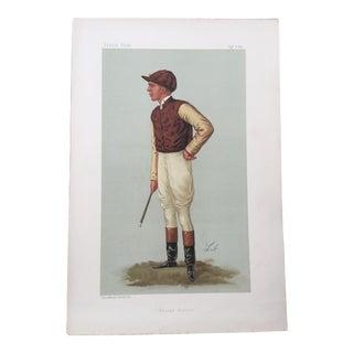 1887 George Barrett Original Vanity Fair Jockey / Horse Racing Print For Sale