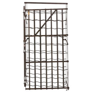 French Metal Wine Rack For Sale
