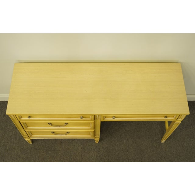 Late 20th Century 20th Century French Provincial Basic Witz Furniture Painted Cream Writing Desk For Sale - Image 5 of 13
