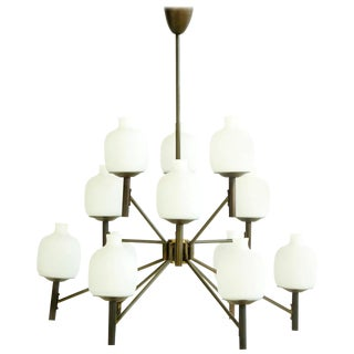 Angelo Lelli for Arredoluce Chandelier For Sale