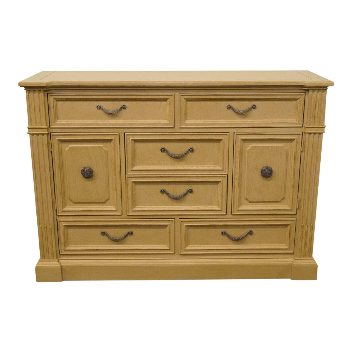 20th century traditional stanley furniture european heritage collection blonde dressing chest chairish