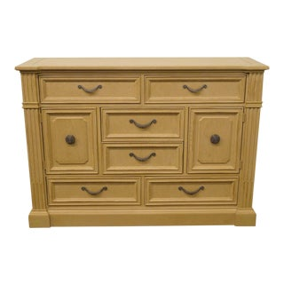 20th Century Traditional Stanley Furniture European Heritage Collection Blonde Dressing Chest For Sale