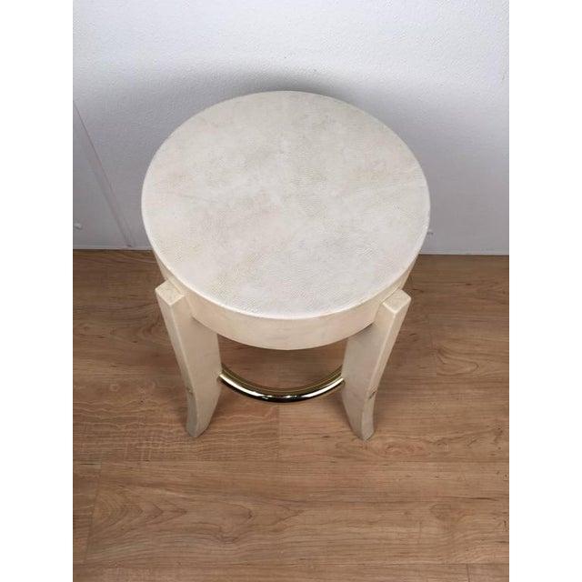Karl Springer Albino Python Side Table - Image 5 of 12